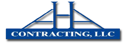 aha contracting logo and home link picture